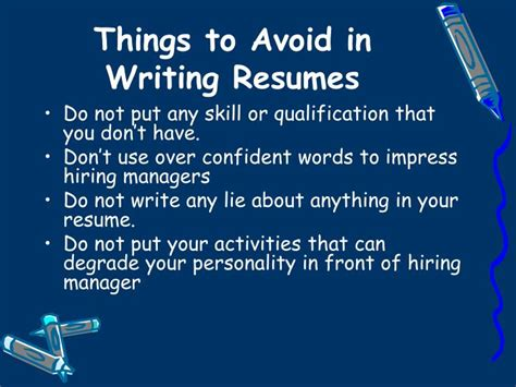 10 things not to do on a resume things not to put on a resume best resume exle things not to put on a resume best resume