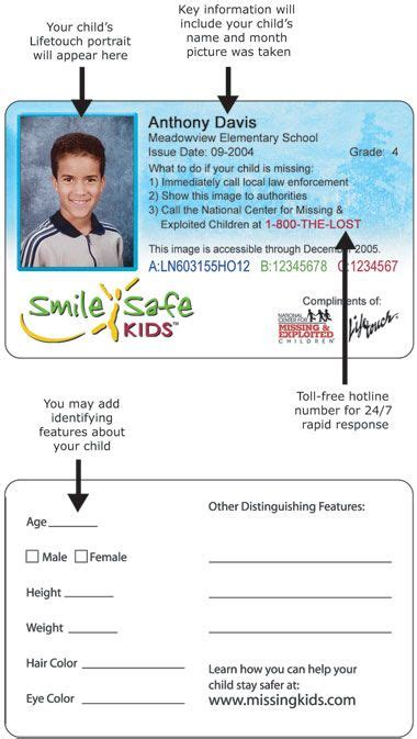 kids id card template id   group
