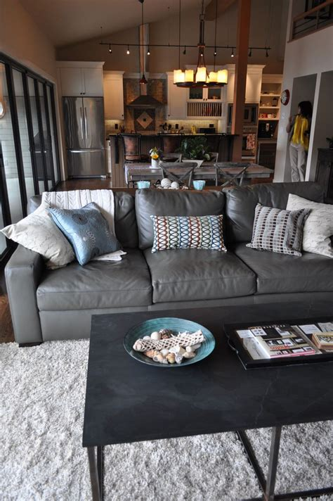 grey leather sectional living room ideas best 20 grey leather sofa ideas on sofa