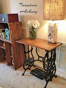 sewing machines that are repurposed beautiful tables With carrelage adhesif salle de bain avec led 43 pouces