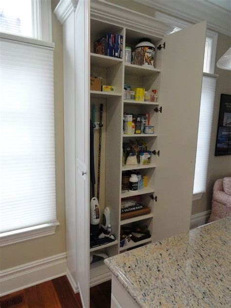 Kitchen Pantry Storage Cabinet Broom Closet by Broom Storage Townhouse Pantry Broom Closet Built In
