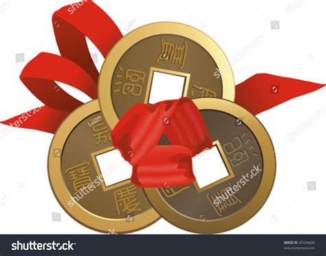 Feng Shui Coins Stock Vector Illustration