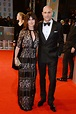 Liza Marshall and Mark Strong | Celebrities at the BAFTA ...