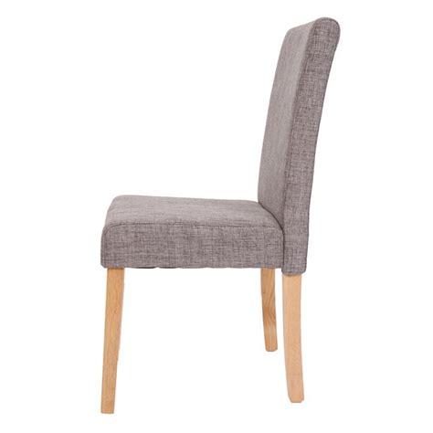chaise tissu gris lot de 6 chaises de salle à manger en tissu gris pieds