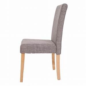 Lot de 6 chaises de salle a manger en tissu gris pieds for Salle À manger contemporaineavec tissu pour chaise salle manger