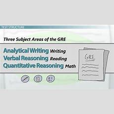 The Gre Test Structure  Video & Lesson Transcript Studycom