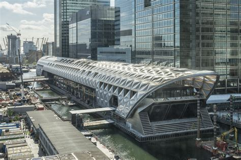 foster partners crossrail place canary wharf london