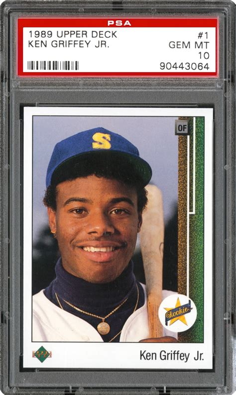 1989 deck ken griffey jr psa 1989 deck ken griffey jr rookie psa cardfacts