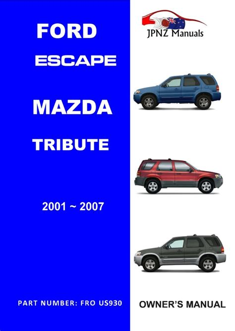 mazda tribute ford escape user owners manual