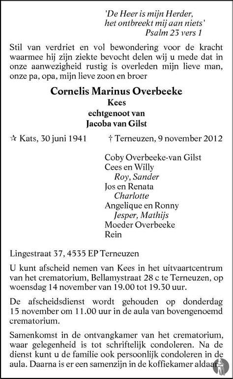 Cornell Overbeeke by Cornelis Marinus Kees Overbeeke 09 11 2012