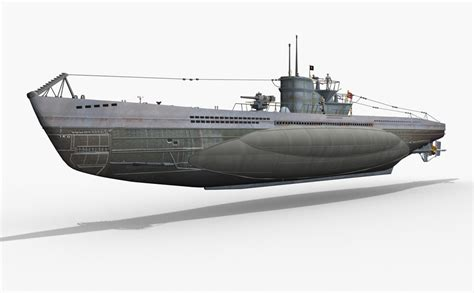 Types Of U Boats by German U Boat Type Vii 3d Max
