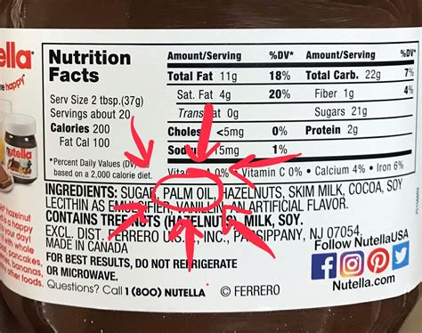 The internet proves that with nutella, you'll never be alone this valentine's day. nutella label - Zero-Waste Chef