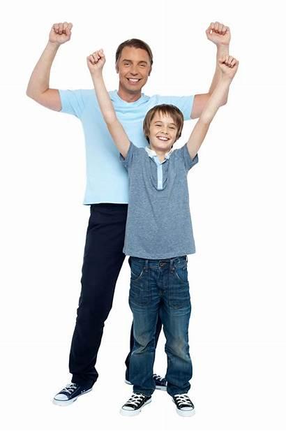 Father Son Transparent Purepng Rejoicing Together Excitement