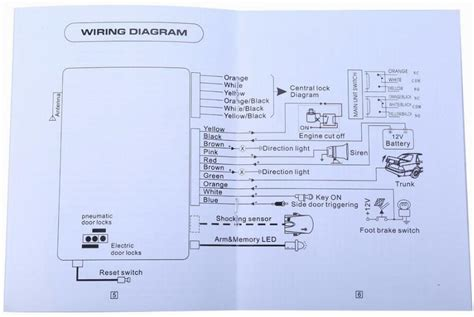 Car Alarm Wiring Diagram Product by Car Alarm System One Way Vehicle Burglar Alarm Security
