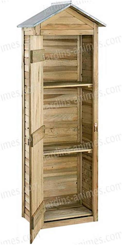 armoire de rangement bois fsc haut 180cm mobilier de jardin
