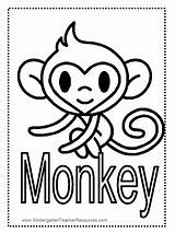 Monkey Coloring Pages Printable Worksheets Printables Monkeys Colored Everfreecoloring Word Children Cartoon Realistic Kid Hummingbird Giraffe Preschoolers Adults Selection Learn sketch template