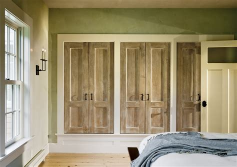 closet door ideas closet traditional with distressed