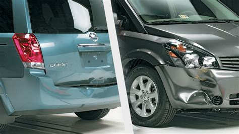 accident recorder 2012 nissan quest parking system nissan quest struggles in bumper tests