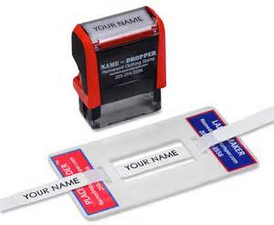 label maker tool kit name dropper permanent ink clothing With apparel label maker