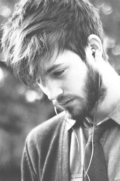 trending medium cut hairstyles  men messy