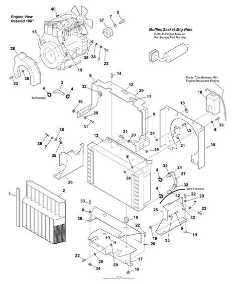 bunton bobcat ryan   turn riding mower parts diagram  engine components