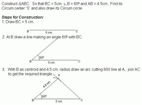 construction 2 circumcircle middle high school
