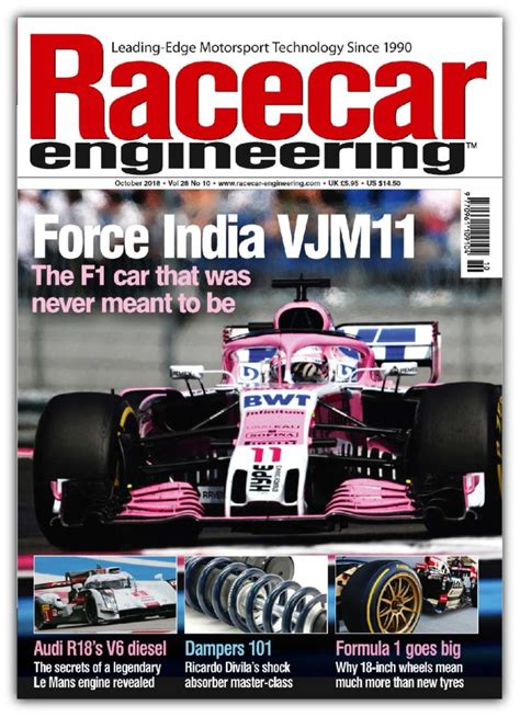 October 2018 Issue Out Now!  Racecar Engineering
