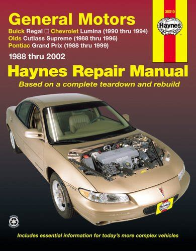 free car repair manuals 1999 pontiac grand prix head up display general motors buick regal chevrolet lumina olds cutlas supreme pontiac grand prix 1988