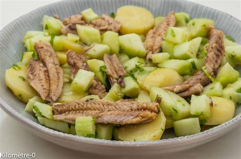 cuisine vapeur recette salade de pommes de terre concombre et sardines kilometre 0 fr