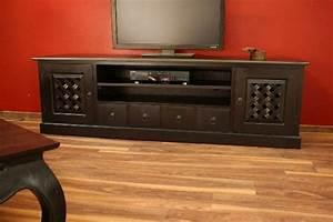 Möbel Im Kolonialstil : sideboard tv hifi schrank rack holz massiv kolonial 201x60x46 ~ Sanjose-hotels-ca.com Haus und Dekorationen