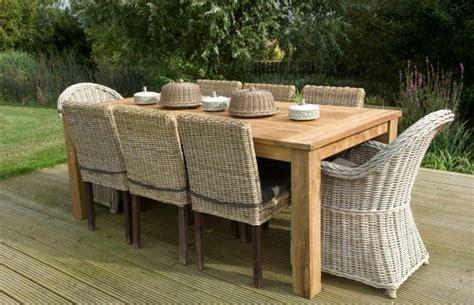 table de jardin en bois salon de jardin en teck tout type de meubles en 20 photos