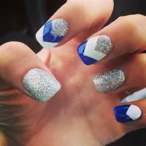 Best ideas about blue and white nails on