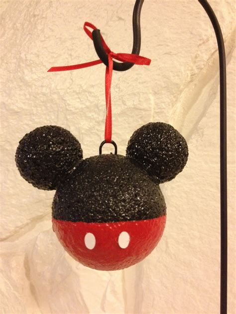 mickey mouse ornament christmas idea pinterest
