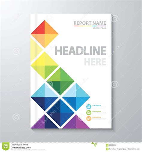 annual report cover in abstract design vector free book cover design clipart 81