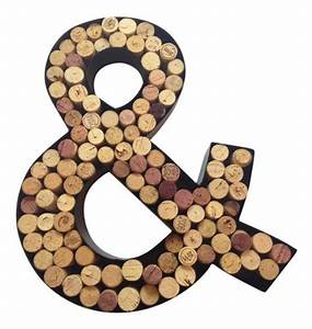 monogram letter quotandquot symbol wall wine cork holder in With monogram wine cork holder letter f