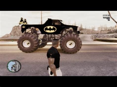 batman monster truck videos gta iv batman monster truck paintjob by me youtube