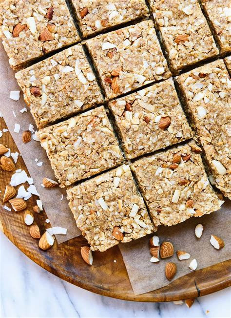 Healthy Seed Bar almond coconut granola bars cookie and kate