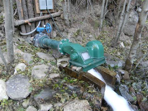 Water Powered Cross Flow Turbine Generator- Low Head Micro