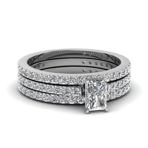 princess cut bridal wedding ring sets in 950