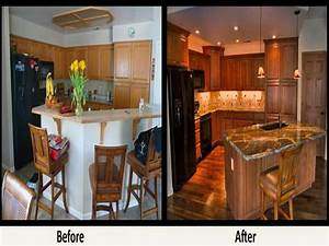galley kitchen remodel before and after on a bud 1631