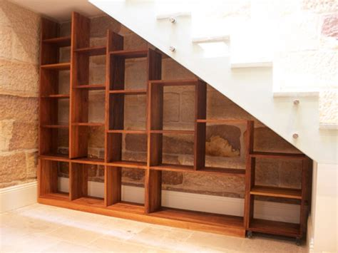 Stair Bookcase Furniture, Bookcase Under Stairs Built In