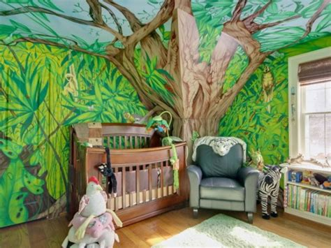 chambre theme jungle deco chambre bebe theme jungle deco maison moderne