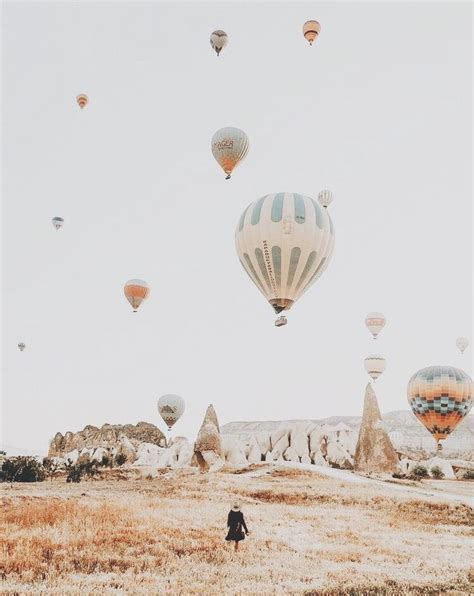 hot air balloons travel aesthetic places  travel