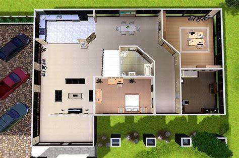 sims modern house floor plans building plans
