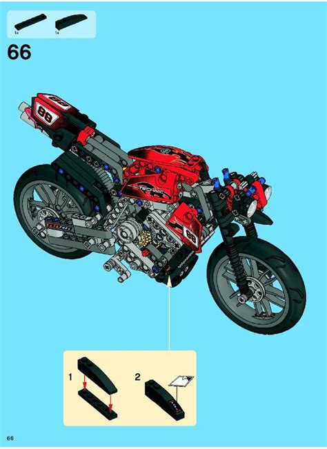 Lego Motorbike Instructions 8051, Technic