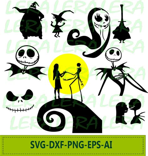 Nightmare Before Christmas Characters Svg Free  – 136+ SVG PNG EPS DXF in Zip File