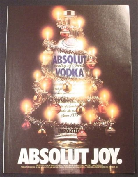 Mythbusters Christmas Tree Vodka by Magazine Ad For Absolut Joy Absolut Vodka Bottle Wrapped