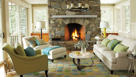Living Room With Fireplace Design by Greensboro Interior Design Window Treatments Greensboro
