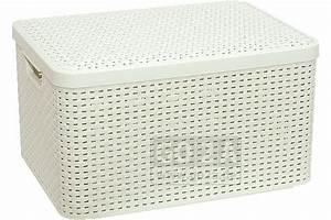 Rattan Box Mit Deckel : curver style box in rattanoptik mit deckel l 03619 ~ Bigdaddyawards.com Haus und Dekorationen