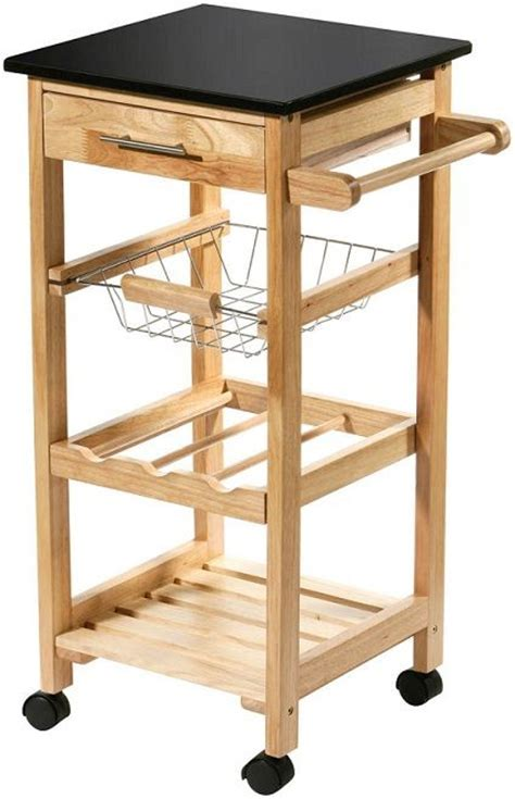 Movable Kitchen Storage Trolley Fruit Vegetable Cart With